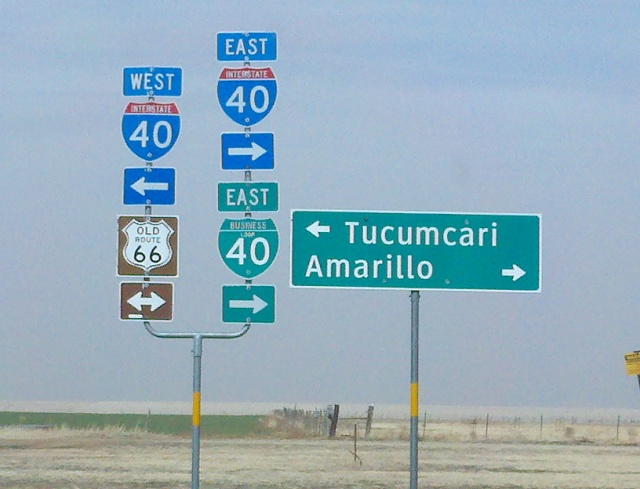 I 40 is, in New Mexico and Arizona, right atop old Route 66. 66 Lives on as a frontage road.