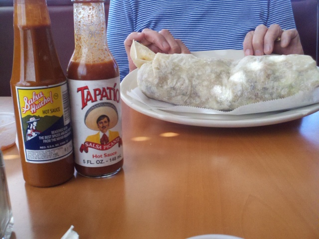 Carnitas burrito.