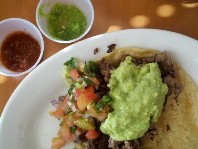 Carne asada taco.