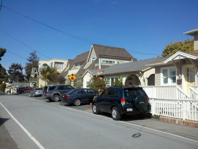 It's nice enough there, but the houses are so close together.