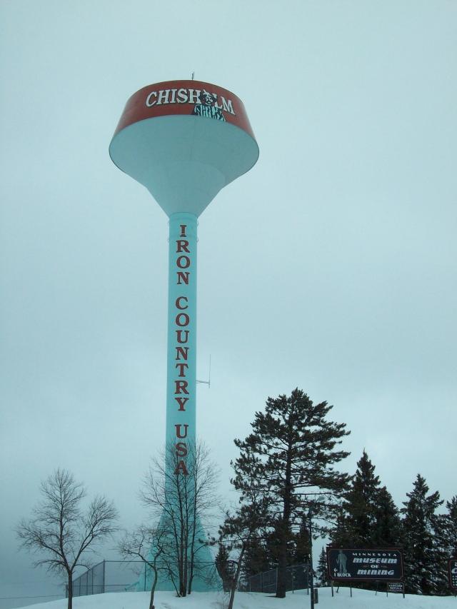 Chisholm water tower.