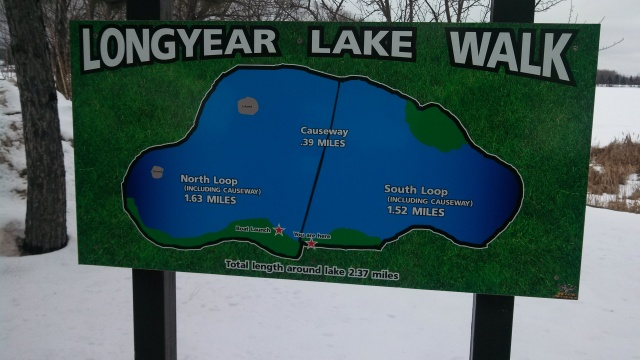 We took the walk around the lake.