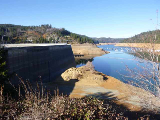 In late January, water should be almost to the top of the dam.