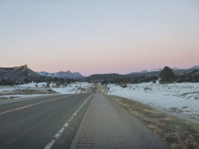 We reached Cortez not long after this pretty sunset.