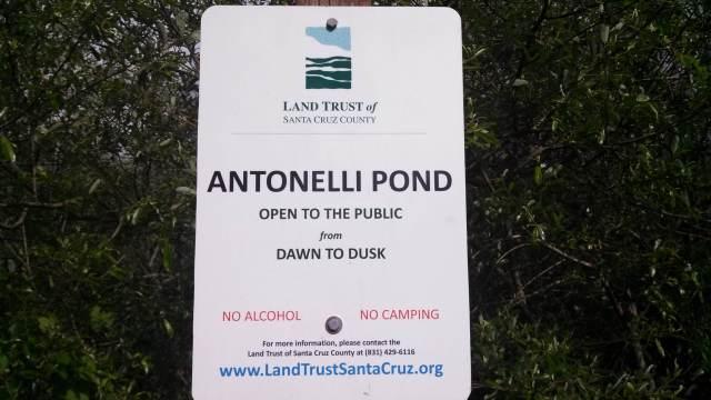 Antonelli pond sign
