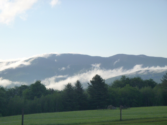 Mist on the mountains.